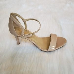 Michael Kors Nude Patent Leather Strappy Heels, 6
